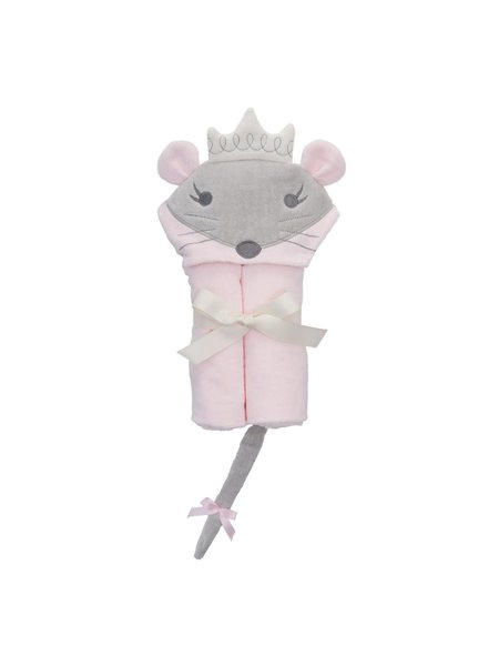 Elegant Baby Princess Mouse Hooded Bath Wrap Towel