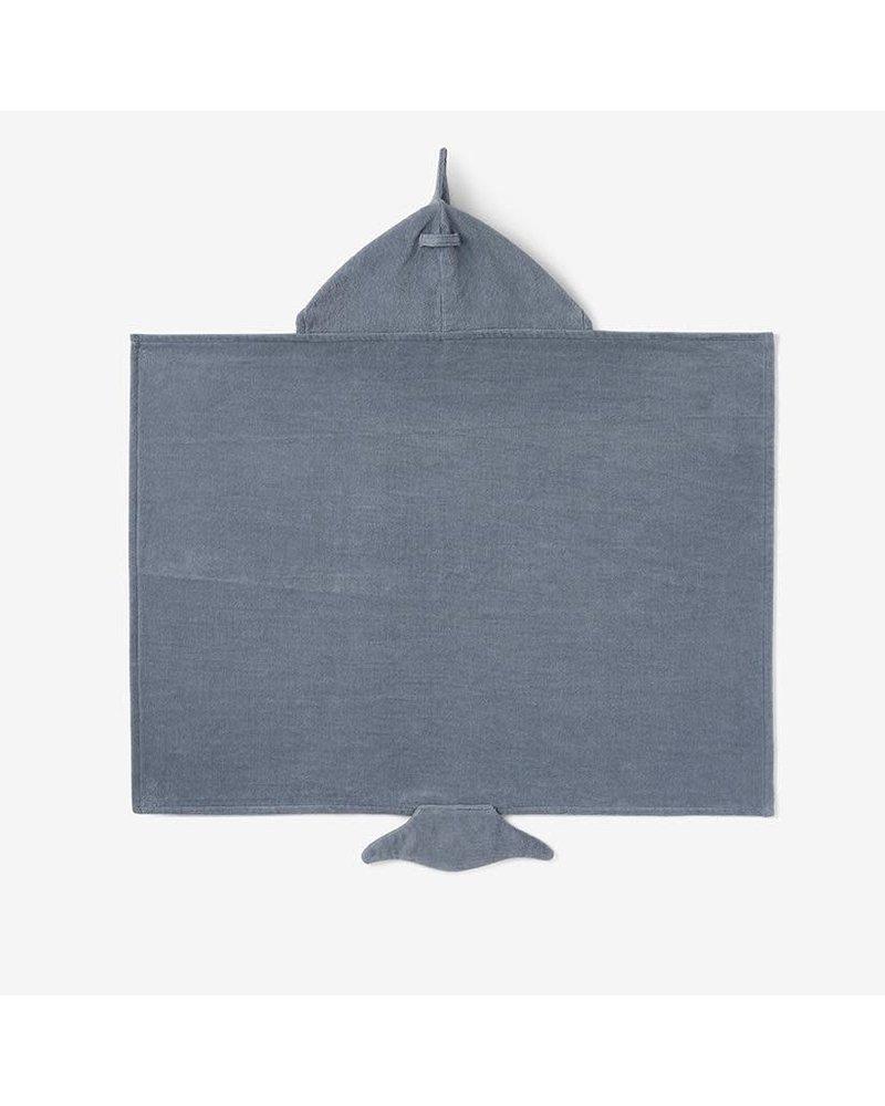 Elegant Baby Elegant Baby Hooded Bath Wrap Towel - Slate Shark