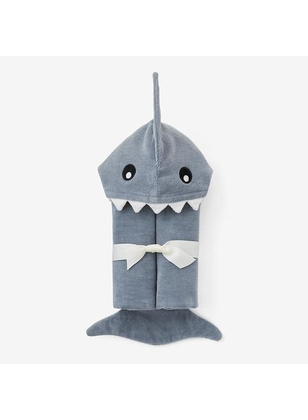 Elegant Baby Shark Hooded Bath Wrap Towel
