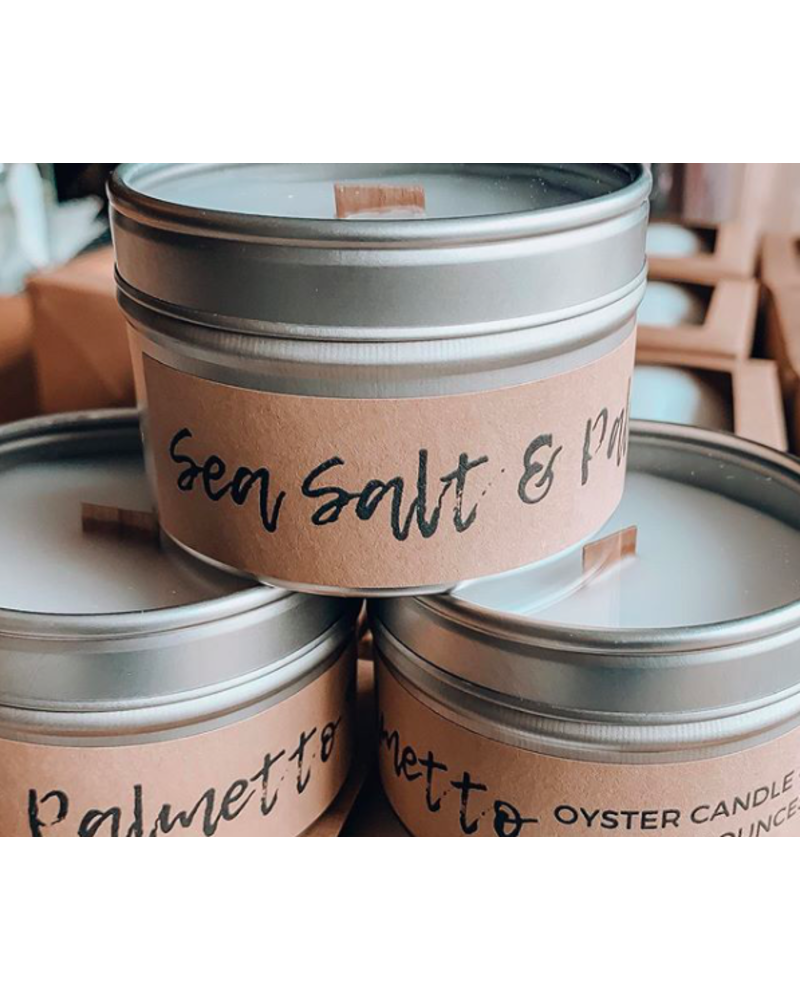 Oyster Candle Company Oyster Candle Co - 6 oz Travel Tin - Sea Salt & Palmetto