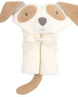 Elegant Baby Tan Puppy Hooded Bath Wrap Towel