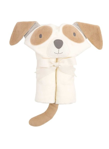 Elegant Baby Tan Puppy Hooded Bath Wrap Towel