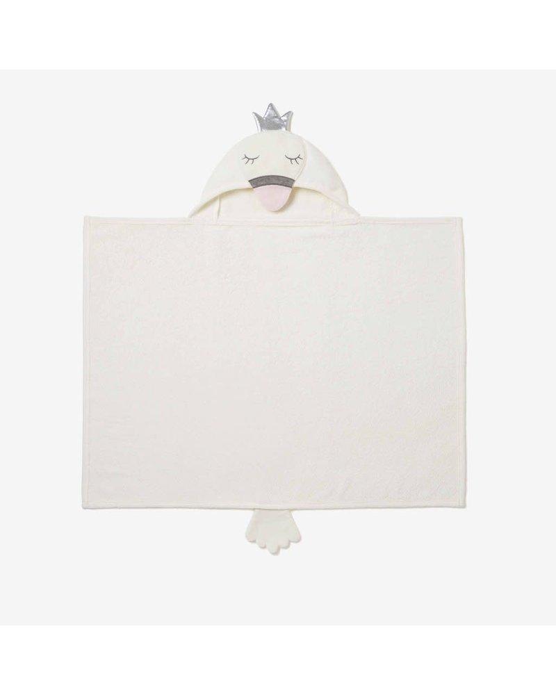 Elegant Baby Elegant Baby Hooded Bath Wrap Towel - Swan