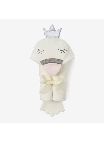 Elegant Baby Swan Hooded Bath Wrap Towel