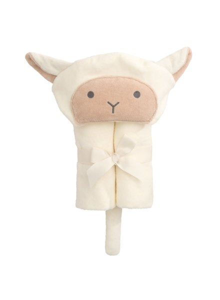 Elegant Baby Lamb Hooded Bath Wrap Towel