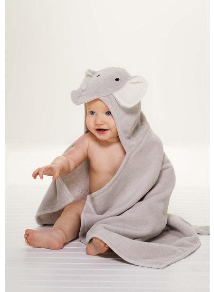 Elegant Baby Elephant Hooded Bath Wrap Towel