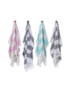 Hello Poolside Hello Poolside Turkish Towel - Pink Cabana Stripes With Monogram