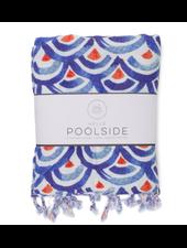 Hello Poolside Shibori Waves Turkish Towel