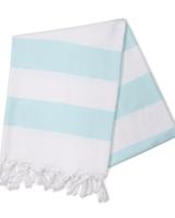 Hello Poolside Mint Cabana Stripes Turkish Towel