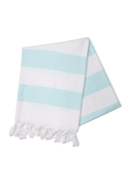 Hello Poolside Mint Cabana Stripes Turkish Towel