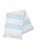 Hello Poolside Hello Poolside Turkish Towel - Mint Cabana Stripes With Monogram