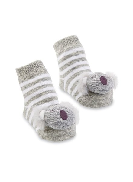 Mudpie Koala Bear Rattle Toe Socks