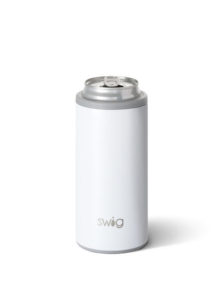 Swig Diamond White Skinny Can Cooler