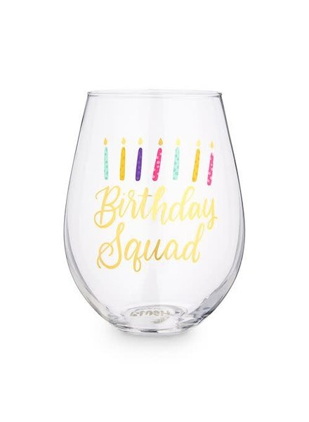 8 Oak Lane Birthday Squad Stemless Wine Glass