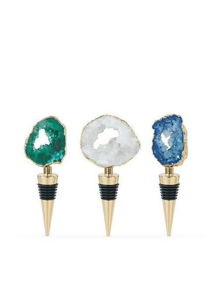 True Geode Wine Bottle Stopper - 3 Color Options