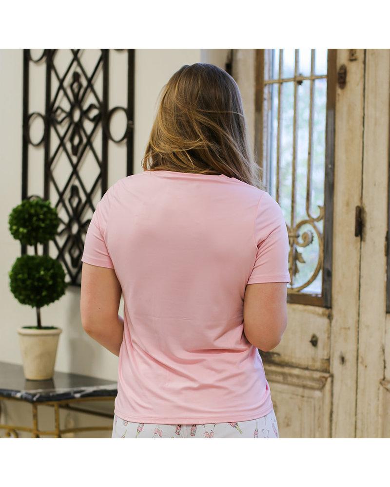 ROYAL STANDARD Royal Standard V-Neck Pocket Tee - Light Pink