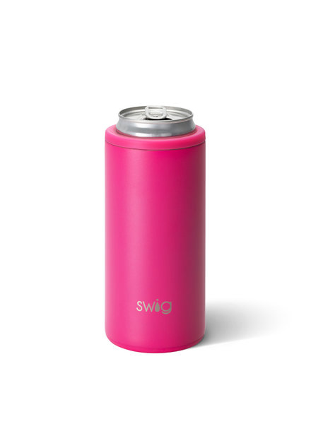 Swig Hot Pink Skinny Can Cooler