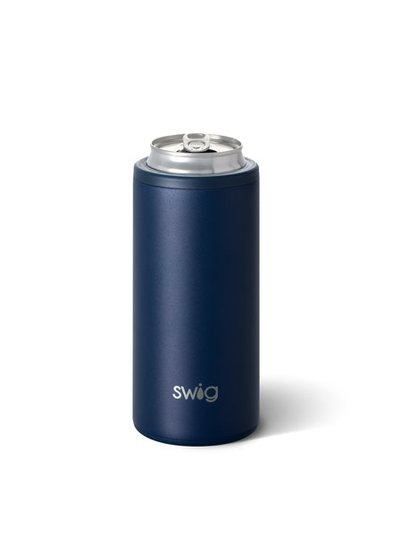 Swig Navy Blue Skinny Can Cooler