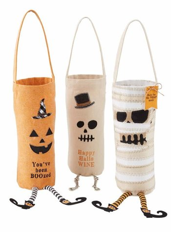 Mudpie Mudpie Halloween Bottle Bag - 3 Designs
