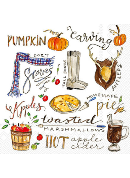 Boston International Fall Favorites Cocktail Napkins