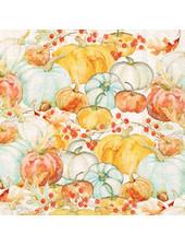 Boston International BI Cocktail Napkin - Watercolor Pumpkins