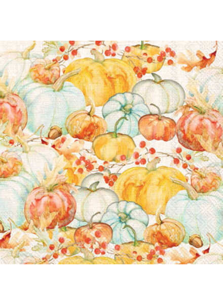Boston International BI Cocktail Napkin - Watercolor Pumpkins