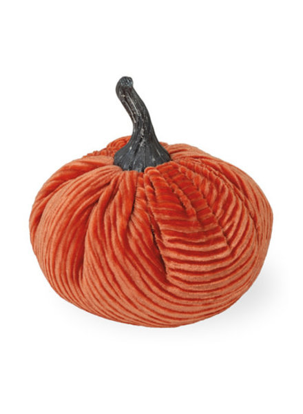 Boston International Orange Corduroy Pumpkin