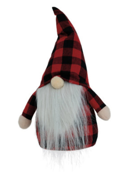 Boston International Red & Black Plaid Gnome