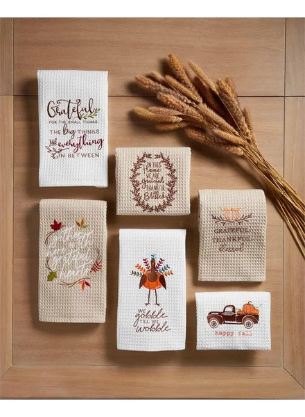 Mudpie Thanksgiving Waffle Towels