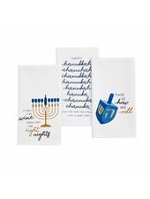 Mudpie Hanukkah Watercolor Towels