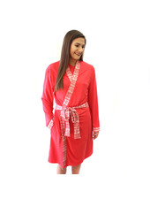 ROYAL STANDARD Red Christmas Print Robe