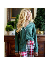 ROYAL STANDARD Green Monogrammed Pajama Top