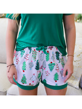 ROYAL STANDARD Christmas Tree Pajama Shorts