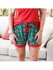 ROYAL STANDARD Holiday Cheer Pajama Shorts