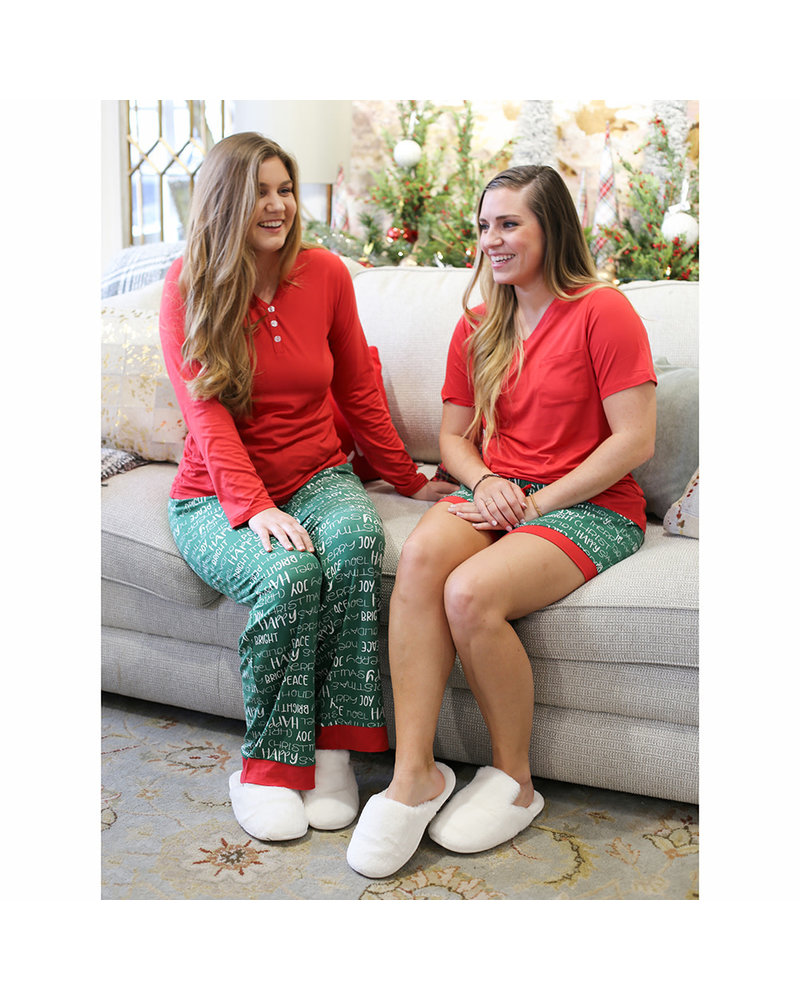 ROYAL STANDARD Royal Standard Holiday Cheer Sleep Short Pajamas