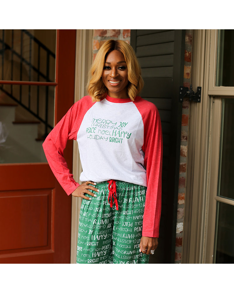 ROYAL STANDARD Royal Standard Holiday Cheer Raglan Pajama T-Shirt