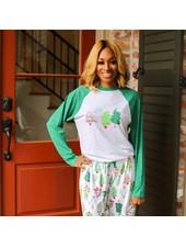 ROYAL STANDARD Christmas Tree Raglan Pajama T-Shirt