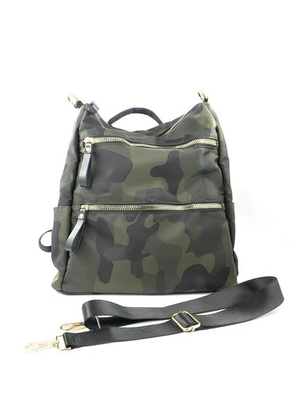 Camo 3 Zip Backpack