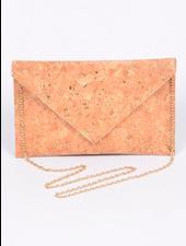 H&D LA Showroom Cork & Silver Envelope Clutch