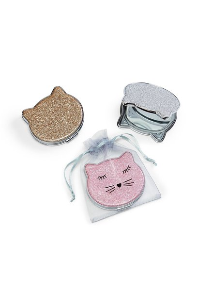 Two's Company Kitty Cat Compact Mirror