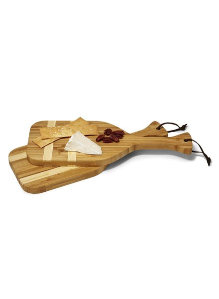 Two's Company Oar Bamboo Serving Tray