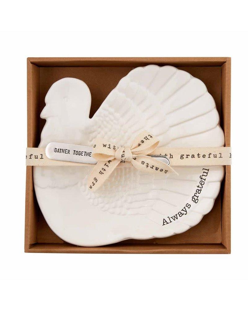 Mudpie Mudpie Thanksgiving Cheese Set - Turkey