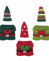 Grasslands Road Christmas Gnome Wine Bottle Outfits