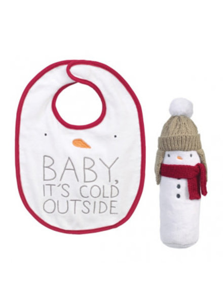 Grasslands Road Baby Its Cold Outside Bib Set