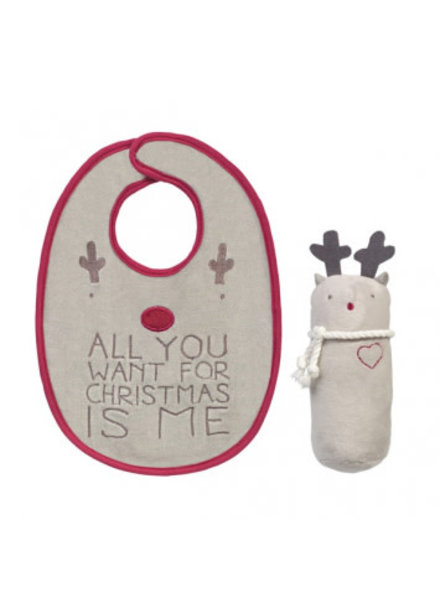 Grasslands Road All You want For Christmas Bib Set