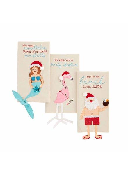 Mudpie Mudpie Beach Christmas Dangle Leg Towels