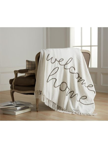 Mudpie Welcome Home Tassel Blanket
