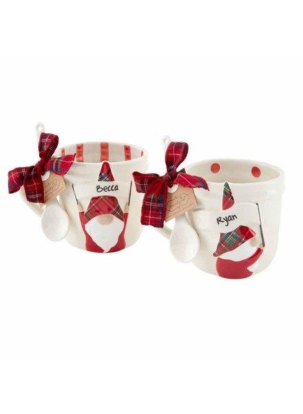 Mudpie Personalized Christmas Gnome Mugs