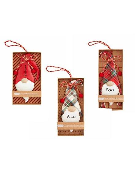 Mudpie Personalized Gnome Ornaments