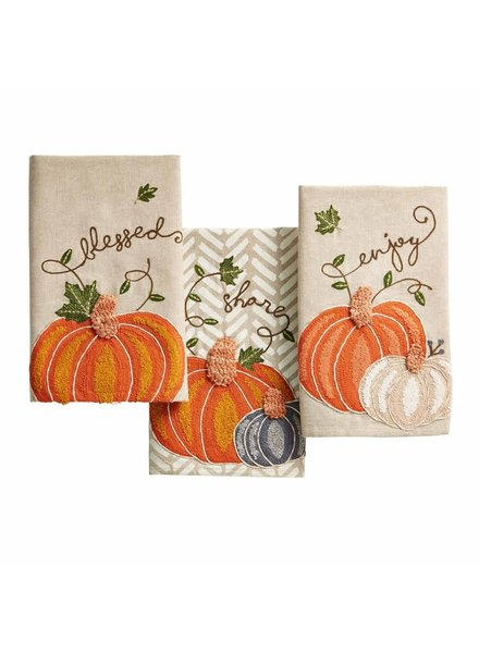 Mudpie Thanksgiving Pumpkin Towels